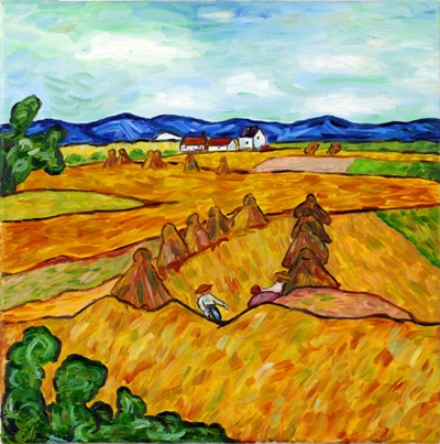 Oil painting 'Field'