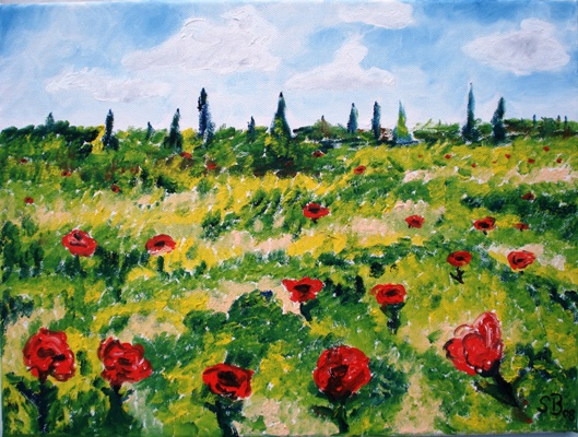 Oil painting 'Summer meadow'
