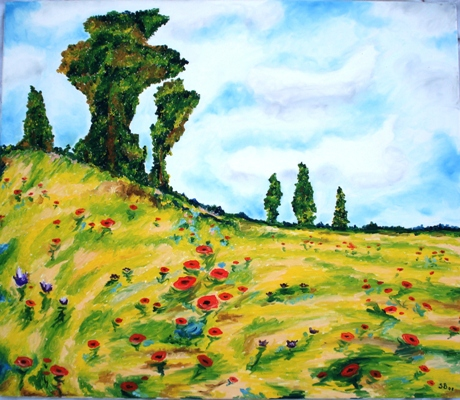 Oil painting 'The hill'