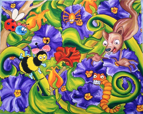 Oil painting 'Jungle'