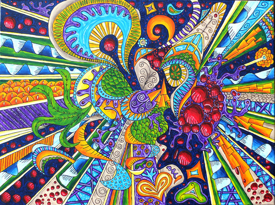 Oil painting 'Zentangle'