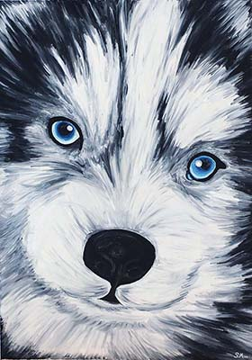 Oil painting 'Puppy'