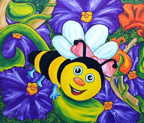 Oil painting 'Bee'